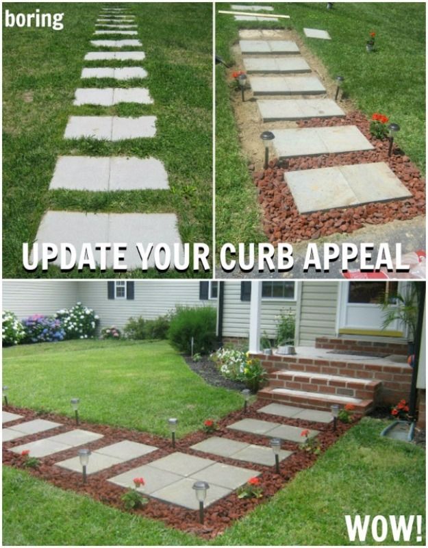 A Beautiful Walkway, DIY Curb Appeal Ideas On Budget