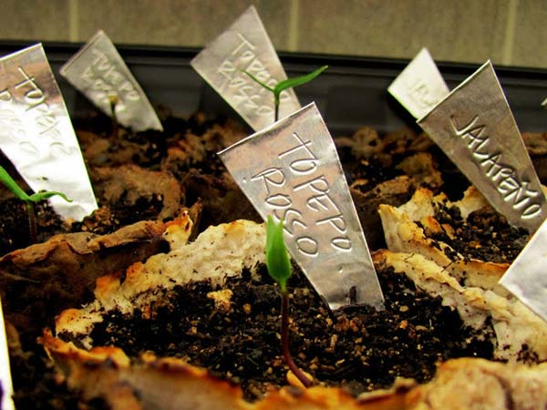 Aluminum Plant Markers, DIY Plant Label and Marker Ideas