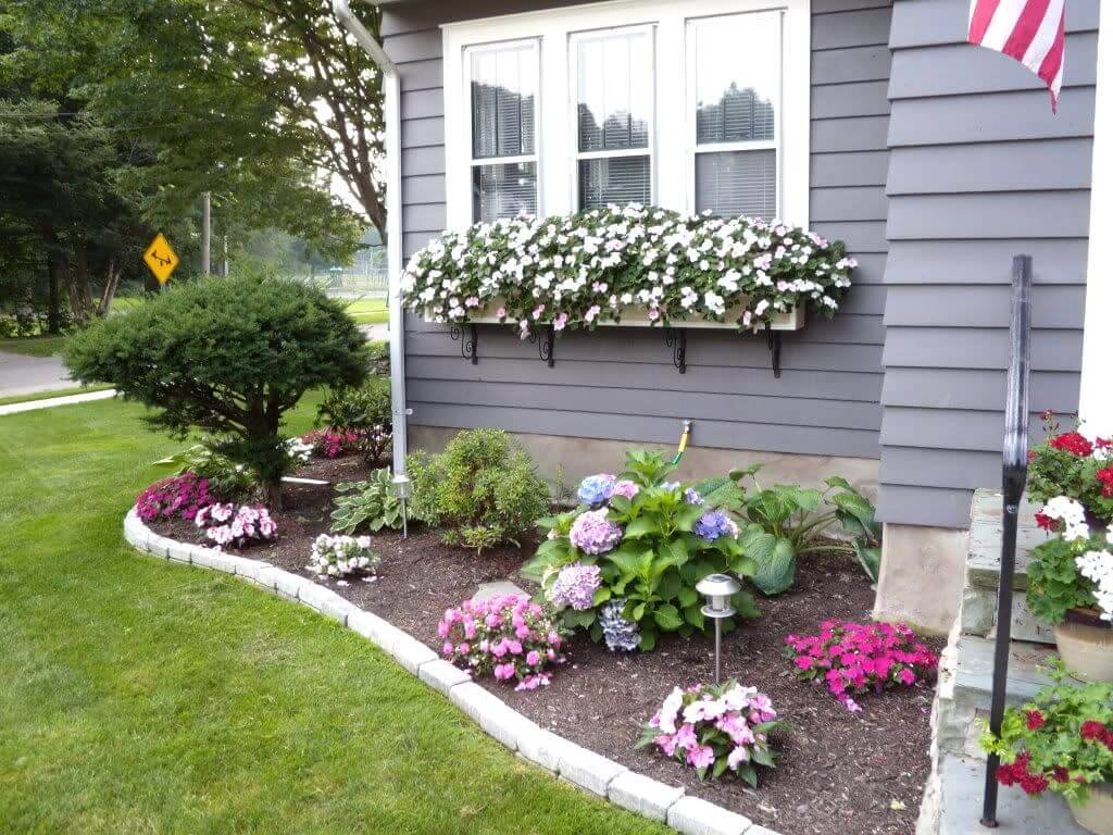 30 amazing diy front yard landscaping ideas and garden - How to hang plants in front of windows ...