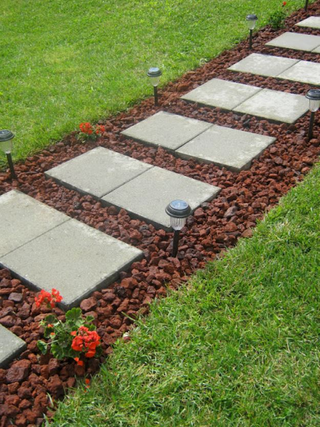 30+ Amazing DIY Front Yard Landscaping Ideas and Designs ... on Backyard Pathway Ideas id=58109