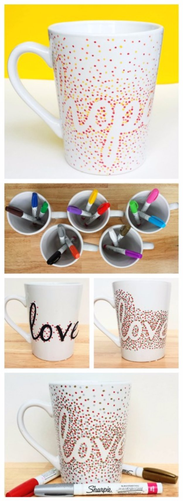 40 amazing crafts to make and sell amazing dotted sharpie mugs solutioingenieria Choice Image