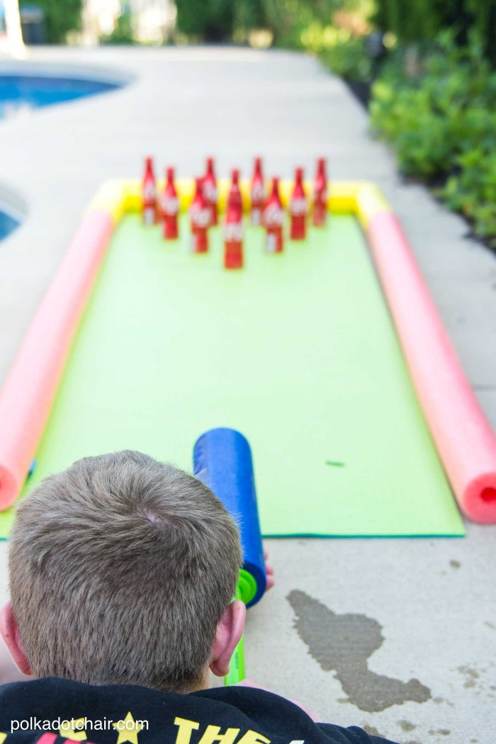 Coke Bottle DIY Bowling Backyard Game, DIY Backyard Games Perfect For Summer