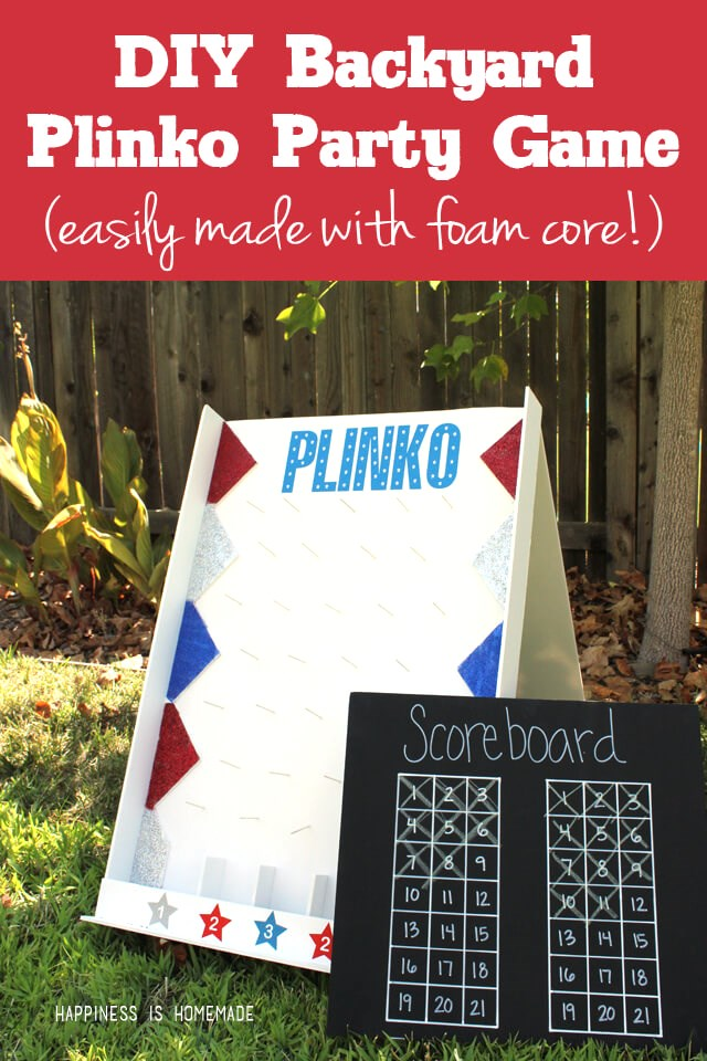 DIY Backyard Plinko Board Game, DIY Backyard Games Perfect For Summer
