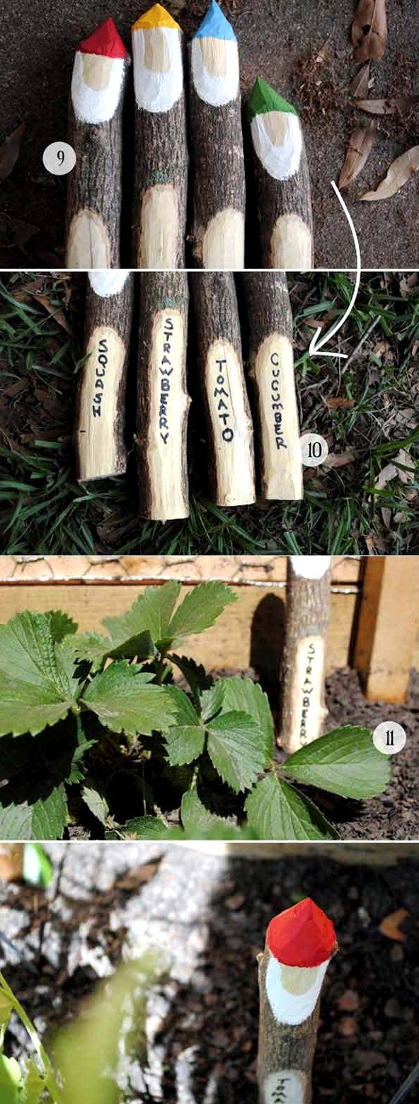 DIY Gnome Garden Markers, DIY Plant Label and Marker Ideas
