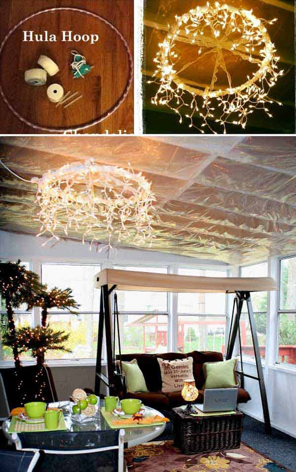 diy outdoor lighting ideas porch 35 amazing diy outdoor lighting ideas for the garden hula hoop chandelier garden