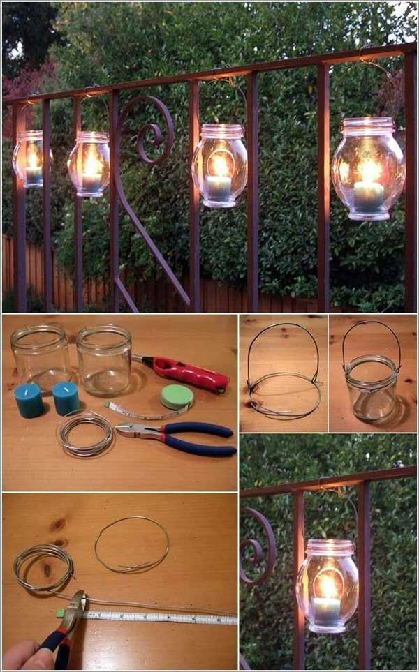 diy outdoor lighting ideas 35 amazing diy outdoor lighting ideas for the garden hanging jar lanterns garden