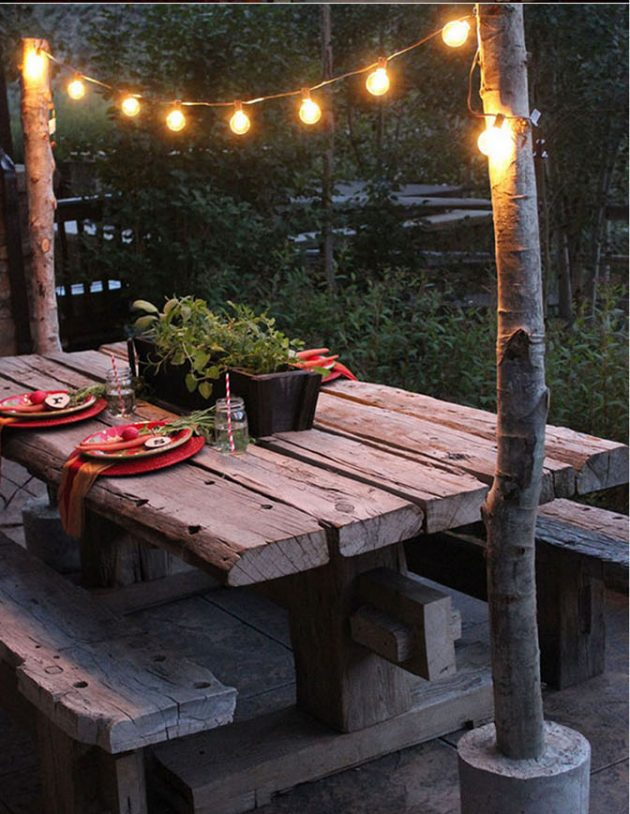 Outdoor Lighting Ideas Diy 35 amazing diy outdoor lighting ideas for the garden diy string light poles with concrete bases workwithnaturefo