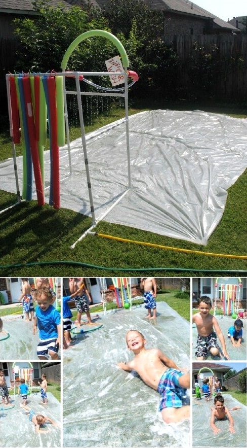 DIY Slip n Slide Game, DIY Backyard Games Perfect For Summer