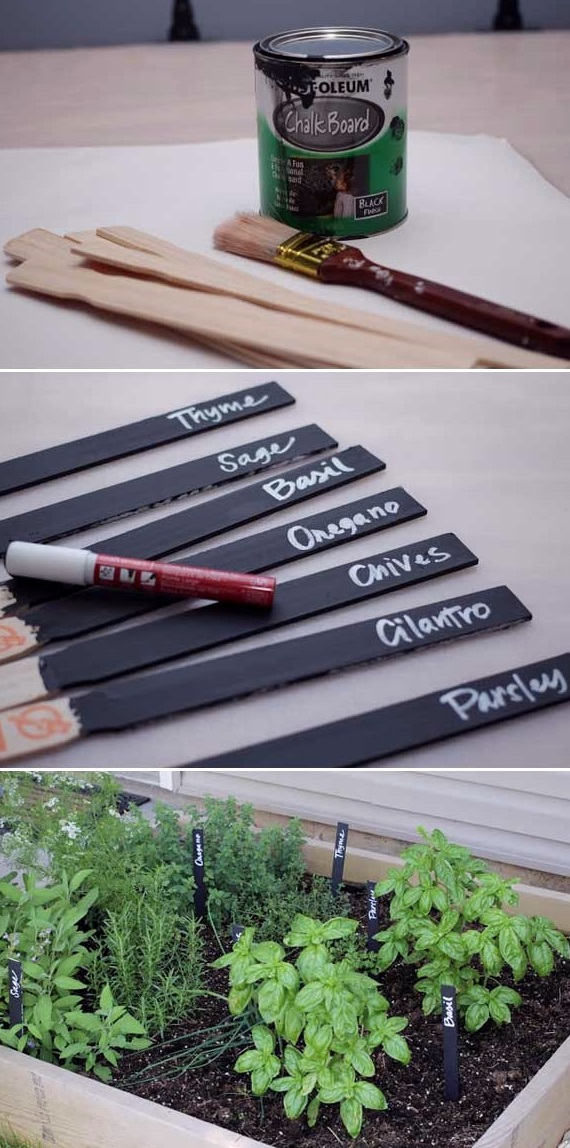 Easy Garden Markers, DIY Plant Label and Marker Ideas