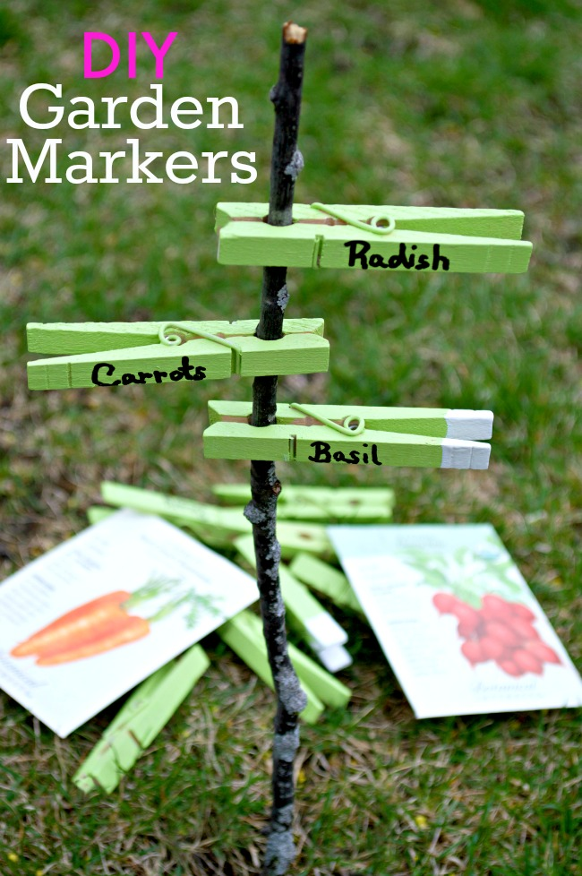 Beautiful Green Garden Markers, DIY Plant Label and Marker Ideas