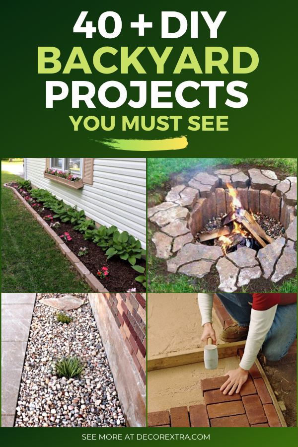 40+ Best DIY Backyard Ideas and Projects for 2020