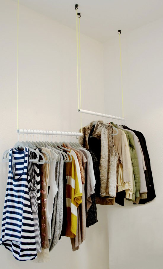 Closet Organization, From Wiry Slobs to Sleek Hanging Rods