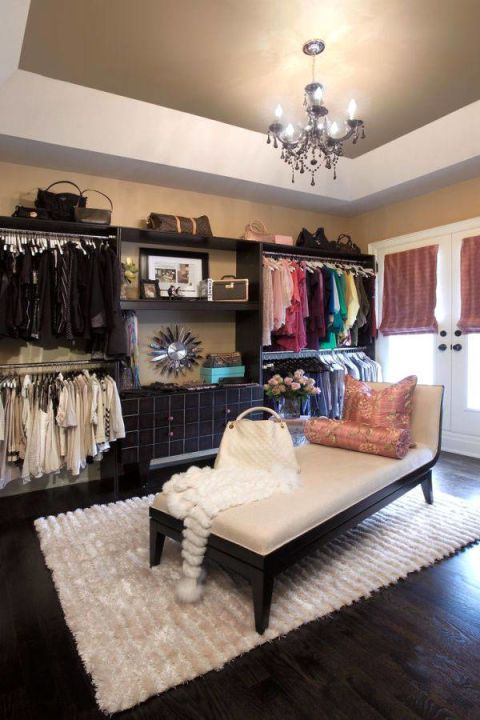 Closet Organization, Use the top of the cabinets
