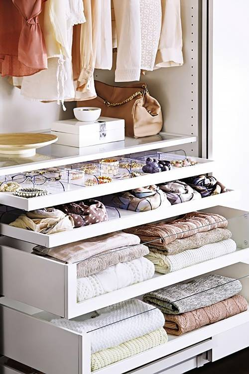 Closet Organization, You can Use Drawer Inserts