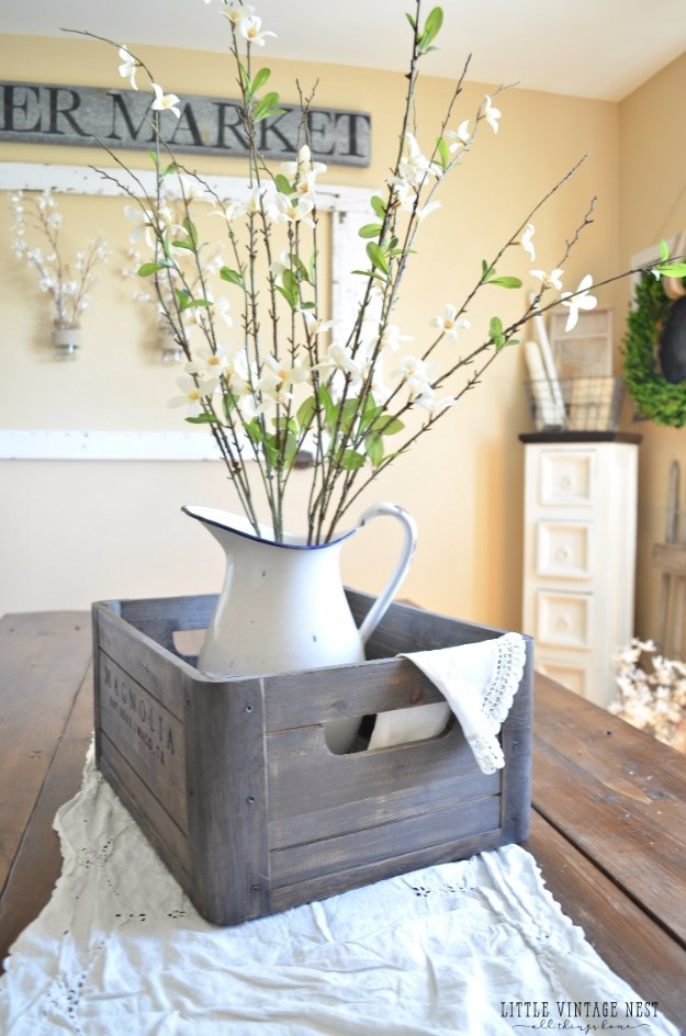 Wooden Crate Centerpiece