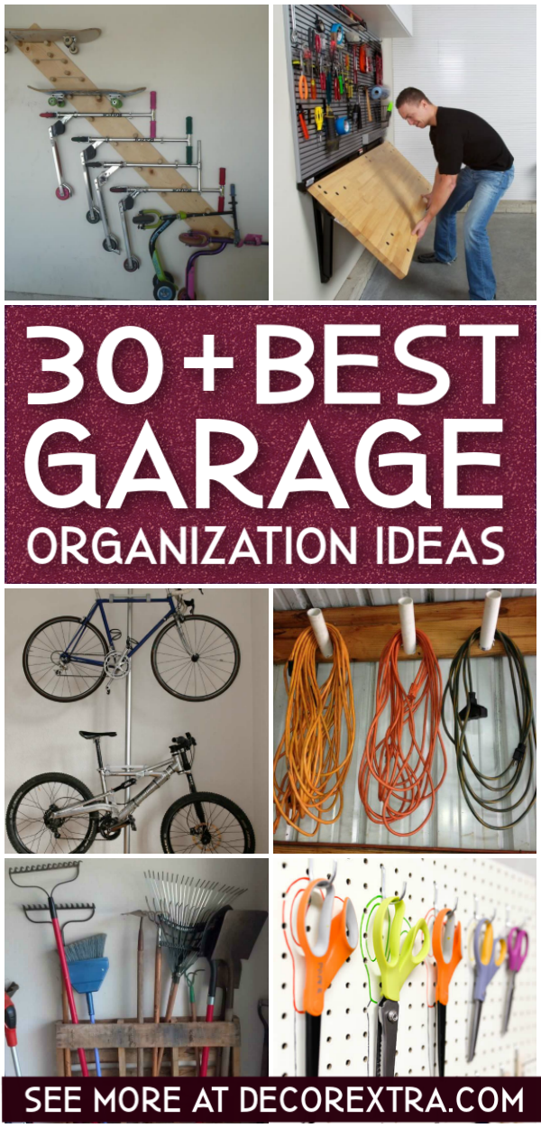30+ Best Garage Organization Ideas #organization #storage #garageorganization #garagestorage