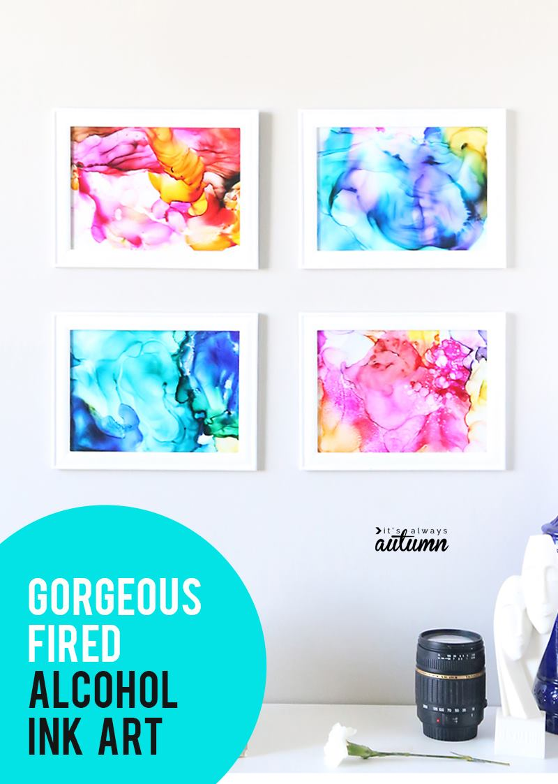 30+ Best DIY Wall Art Projects For Your Home, DIY Fired Ink Wall Art