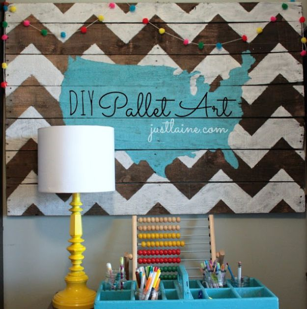 30+ Best DIY Wall Art Projects For Your Home, DIY Pallet Wall Art