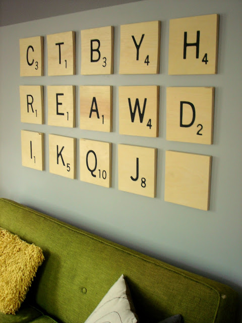 30+ Best DIY Wall Art Projects For Your Home, DIY Scrabble Wall Art