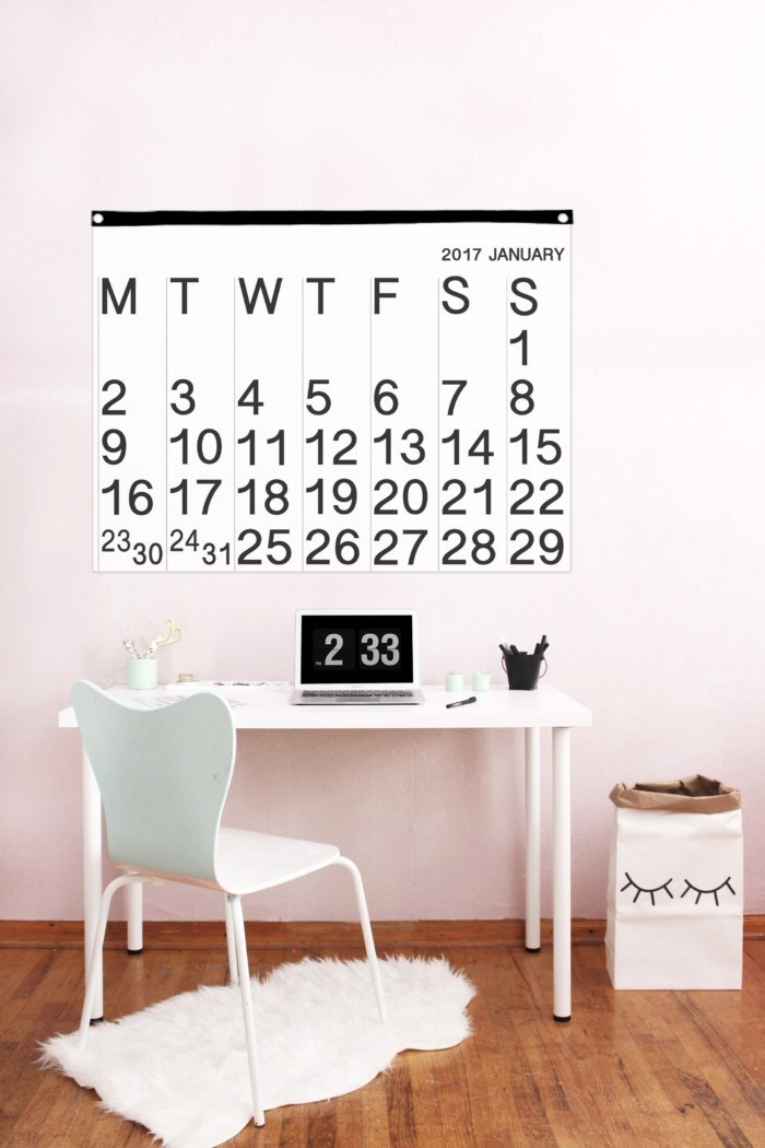 30+ Best DIY Wall Art Projects For Your Home, DIY Stendig Calendar