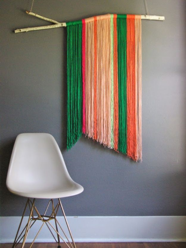 30+ Best DIY Wall Art Projects For Your Home, DIY Yarn Wall Art