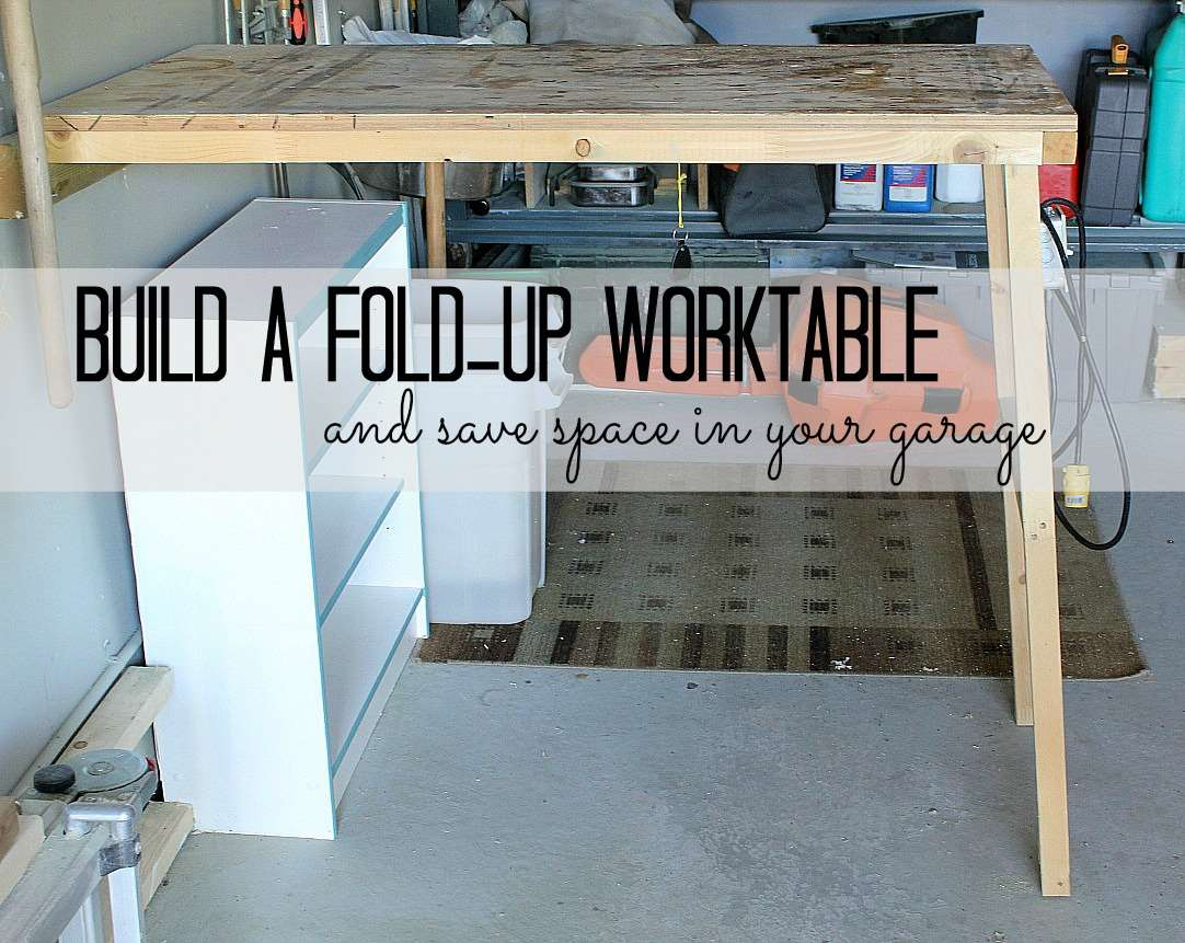30+ BEST Garage Organization and Storage Ideas, Fold-up Garage Worktable