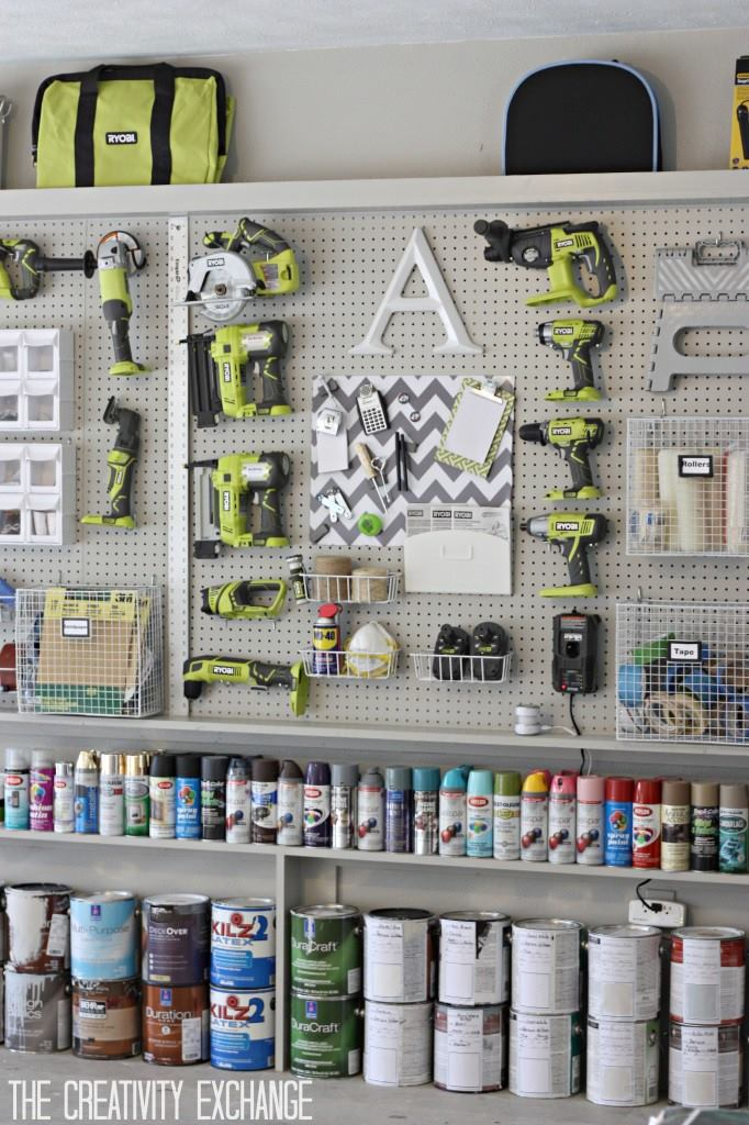 Garage Storage and Organization, Organizing the Garage with DIY Pegboard Storage Wall