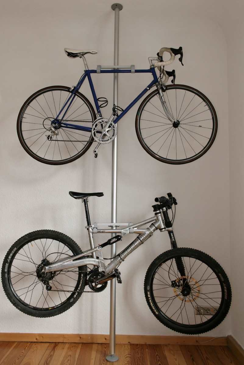 30+ BEST Garage Organization and Storage Ideas, Store Bikes Vertically
