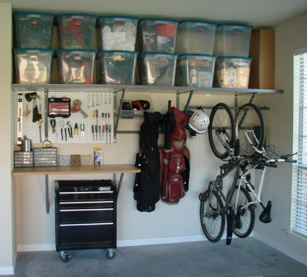 30+ BEST Garage Organization and Storage Ideas, Hang Tools, Supplies and Other Things and Use Shelves Above It