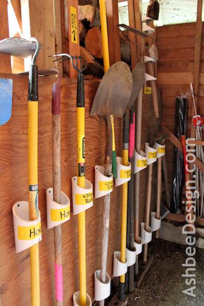 30+ BEST Garage Organization and Storage Ideas, Organizing Tools with PVC