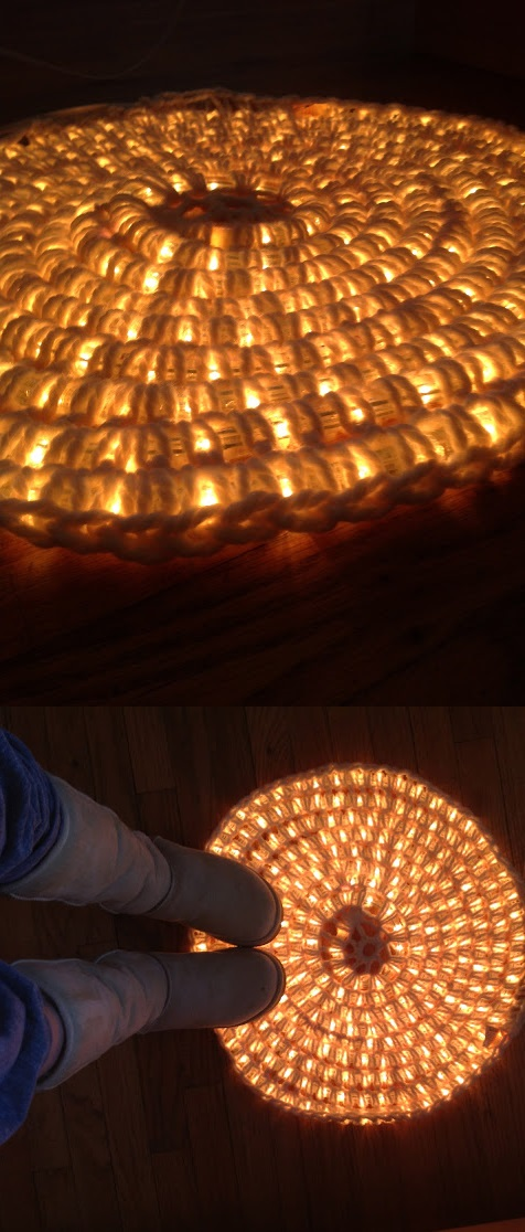 20+ Best DIY String Light Ideas For Your Home Decor, Amazing Light-Up Rug DIY