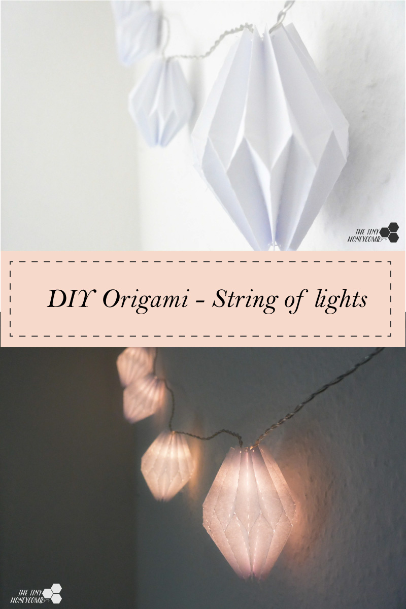 20+ Best DIY String Light Ideas For Your Home Decor, DIY Origami String Lights