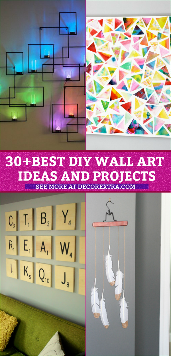 30+ Best DIY Wall Arts For Your Home Decor