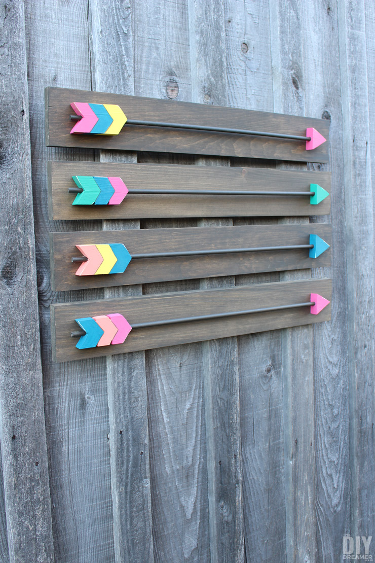 30+ Best DIY Wall Art Projects For Your Home, DIY Wood Arrows Wall Art