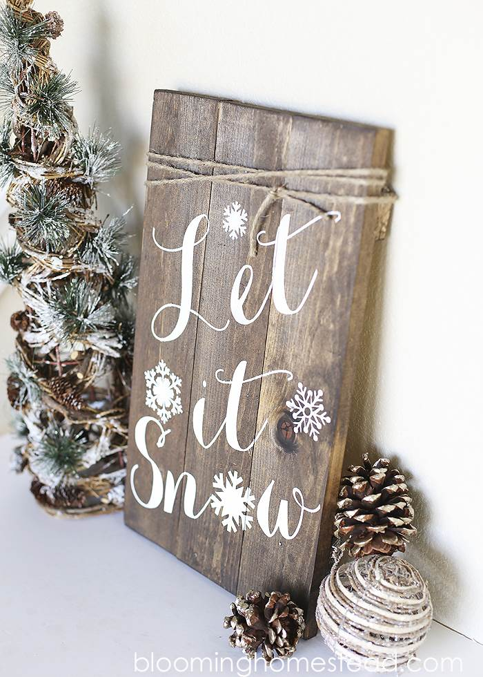30+ Best DIY Wall Art Projects For Your Home, DIY Winter Woodland Sign
