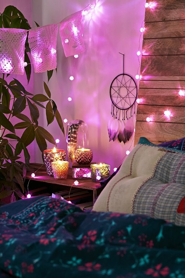 20+ Best DIY String Light Ideas For Your Home Decor, Pink Rose Shaped Lights