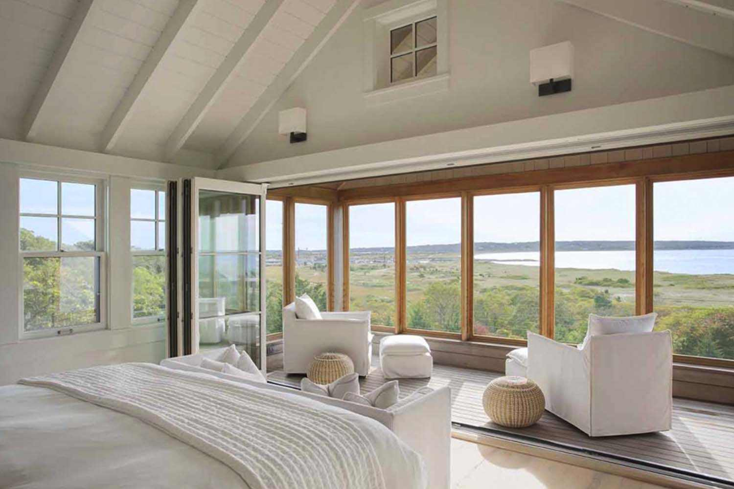 Bedroom with View, Beach Barn House in Massachusetts