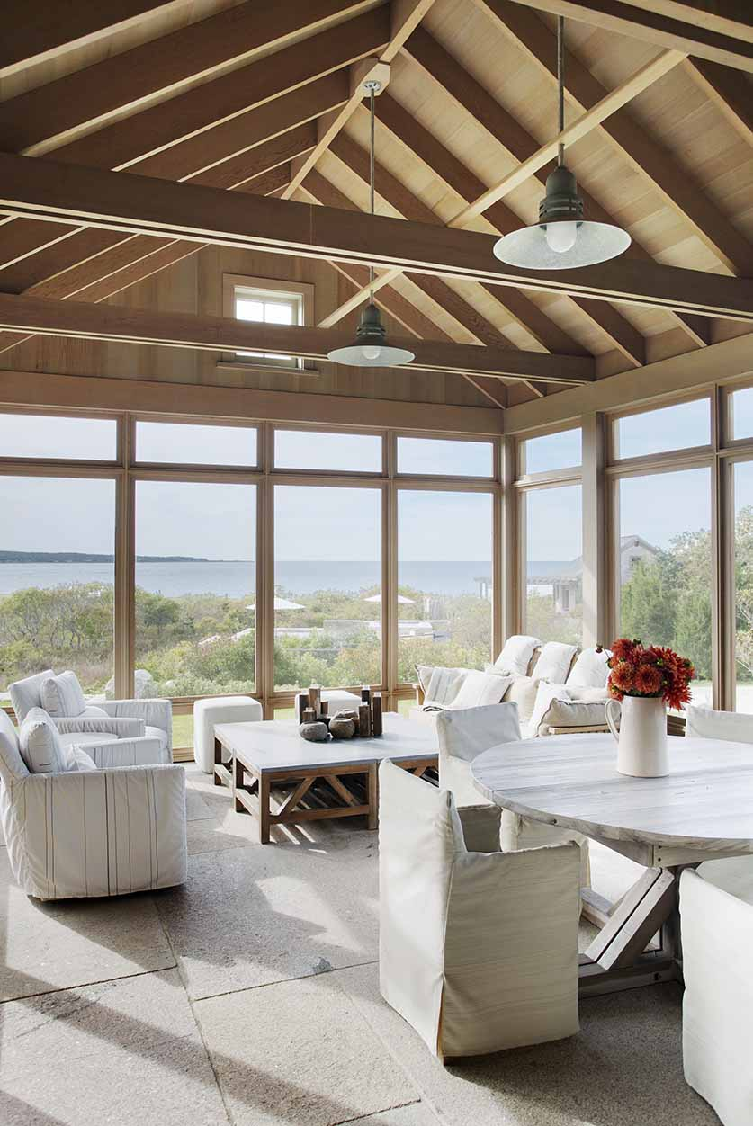 Living Space with View, Beach Barn House in Massachusetts