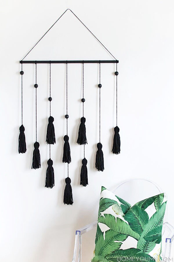 DIY Modern Tassel Wall Hanging, Classy DIY Wall Decor Ideas For Your Home - Wall Arts