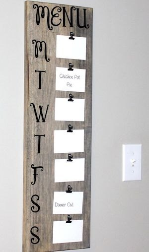 DIY Rustic Farmhouse Menu Board Wall Decor, Classy DIY Wall Decor Ideas For Your Home - Wall Arts