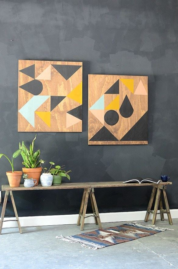 Wall Art Geometrics for Your Living Room, Classy DIY Wall Decor Ideas For Your Home - Wall Arts